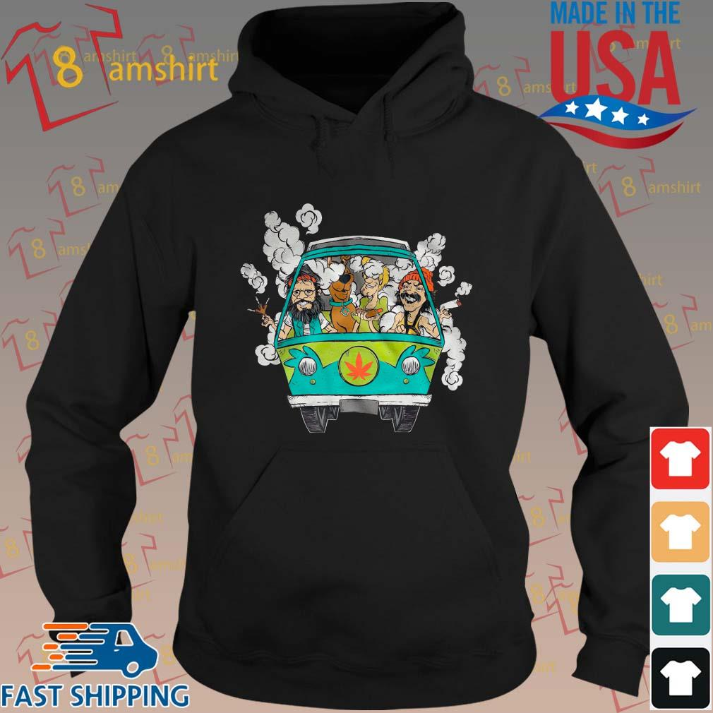 Peace Car Scooby Doo And Hippie Old Man Smoking Weed Shirts hoodie den