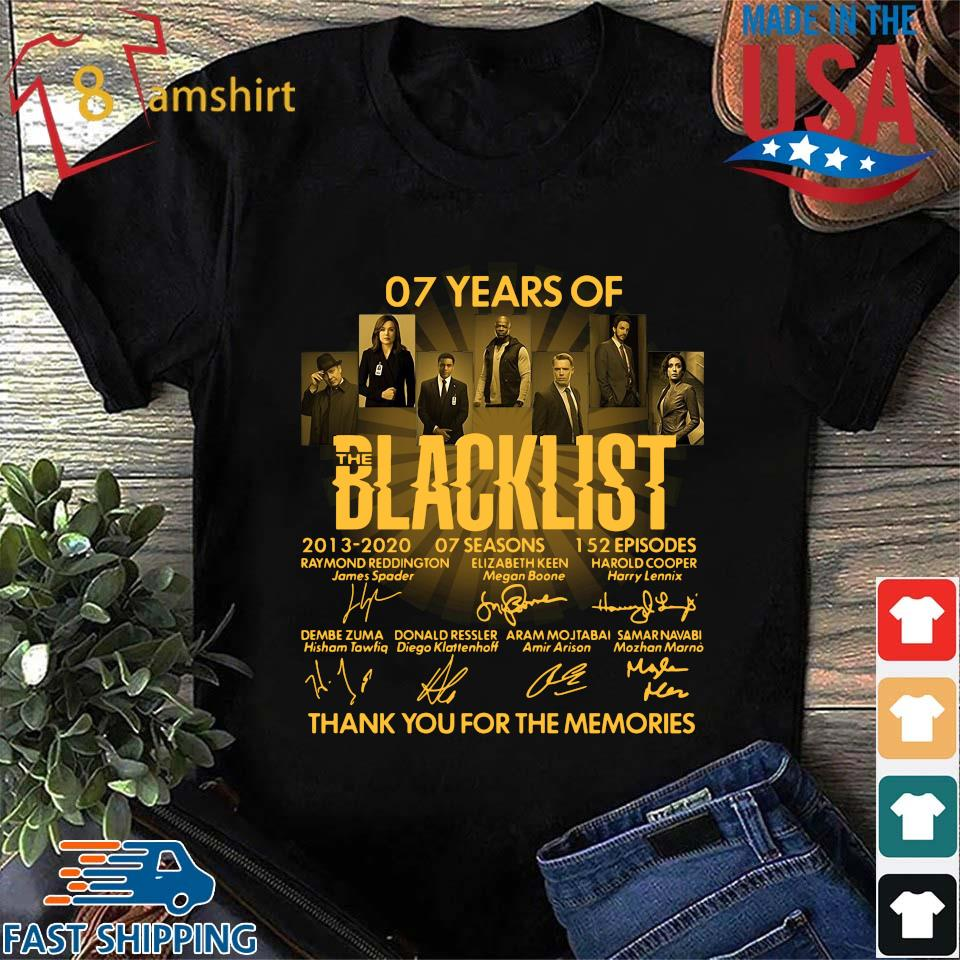 07 Years Of The Blacklist 2013-2020 07 Seasons Signatures Thank You For The Memories Shirt