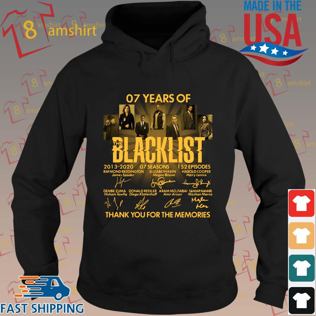 07 Years Of The Blacklist 2013-2020 07 Seasons Signatures Thank You For The Memories Shirt hoodie den