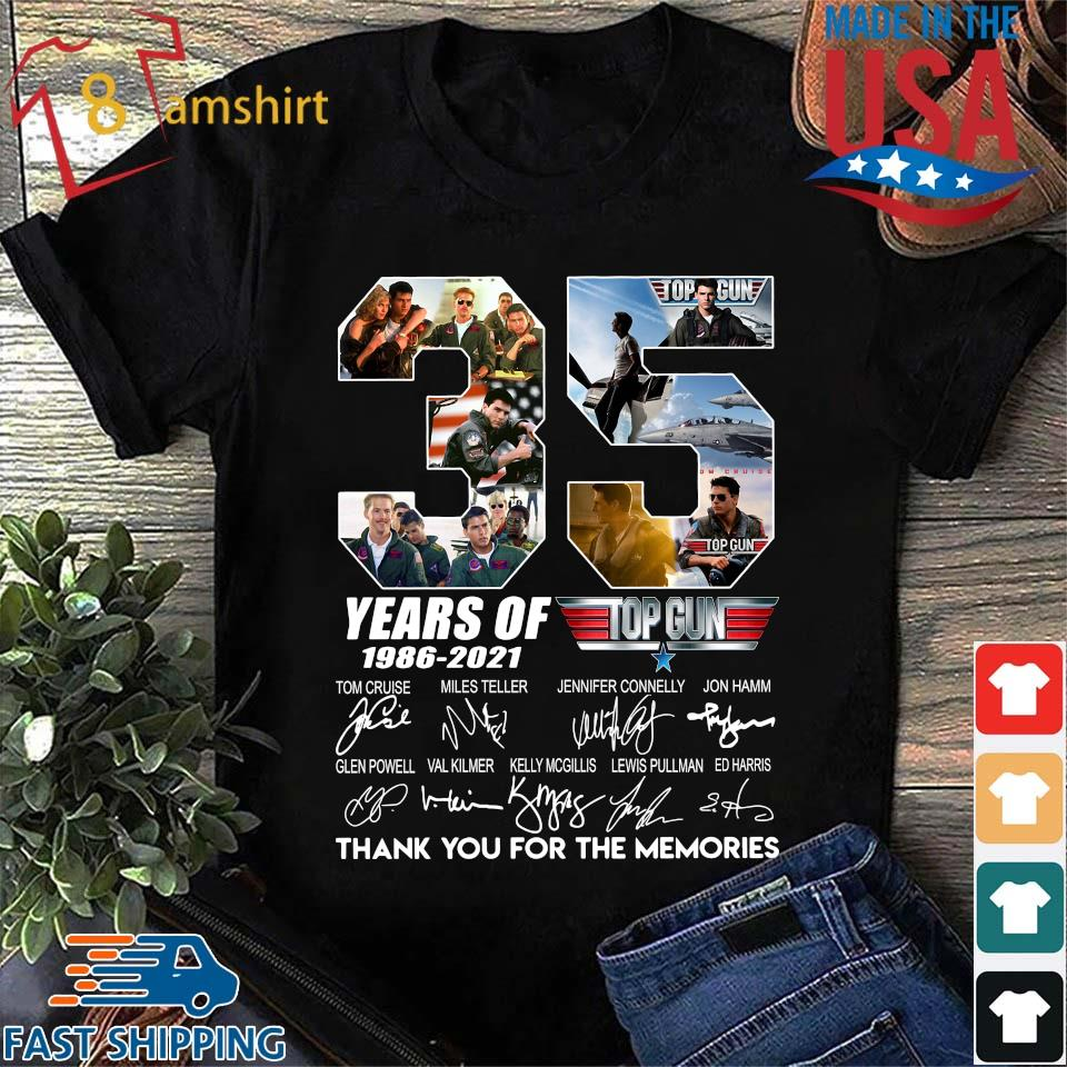 35 years of top gun 1986 2021 thank you for the memories signatures shirt