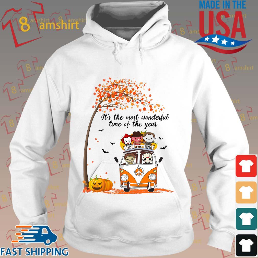 Hippie Car Halloween Horror Characters Chibi It's The Most Wonderful Time Of The Year Shirt Hoodie trang