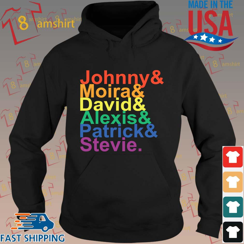 Johnny moira david alexis patrick stevie LGBT s hoodie den