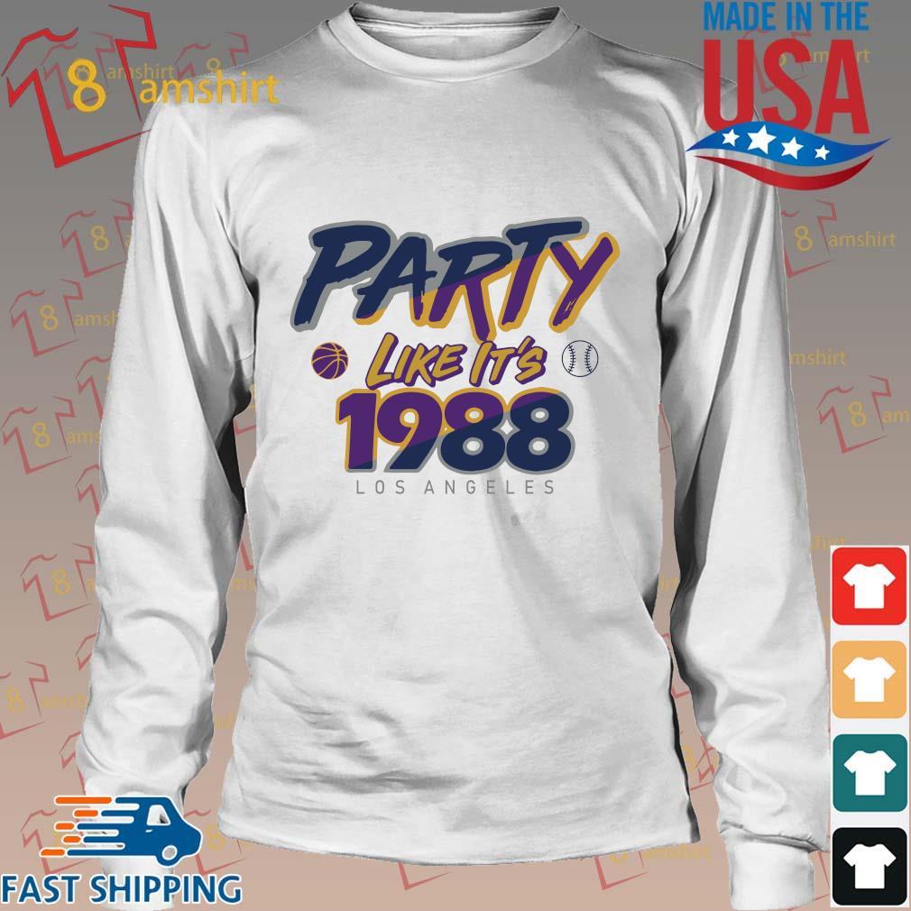 Los Angeles Baseball Party Like It's 1988 Shirt Long trang