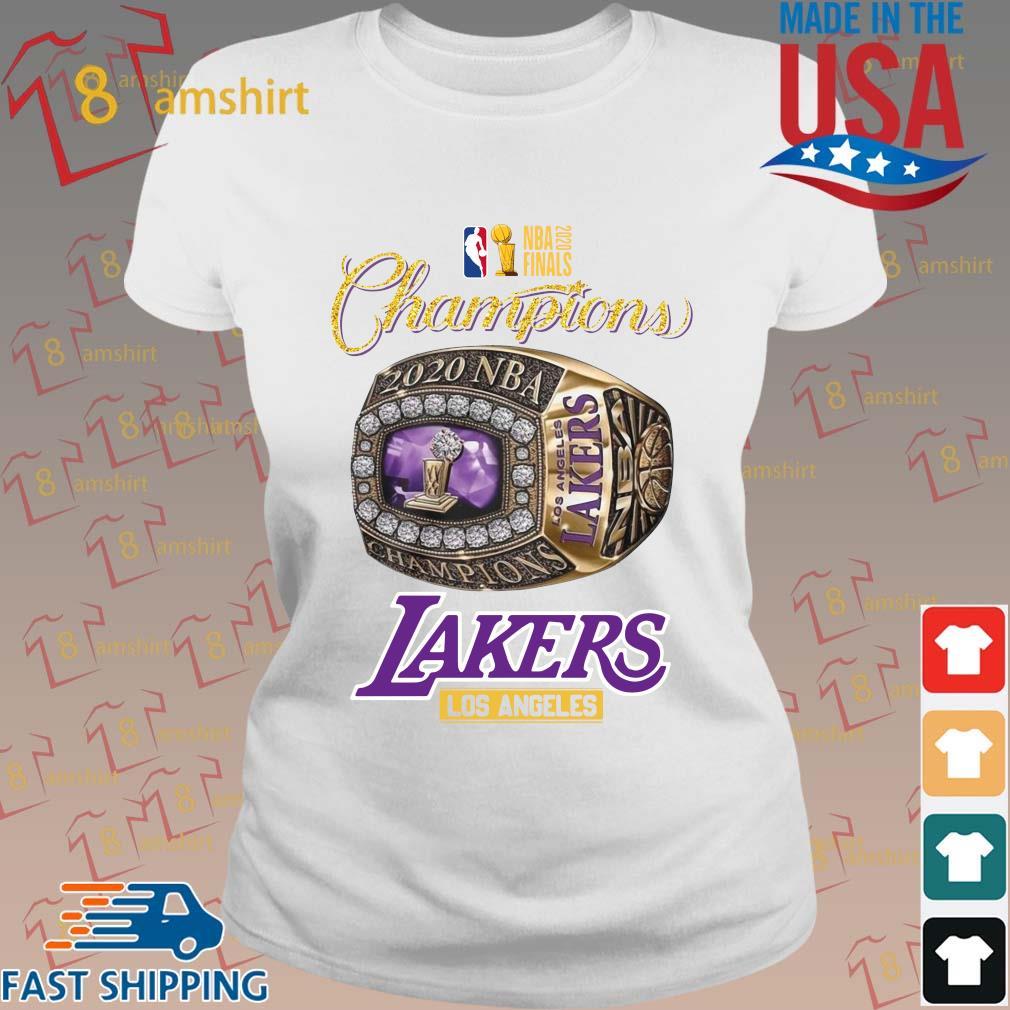 Rings Champions NBA 2020 finals Los Angeles Lakers shirt ...