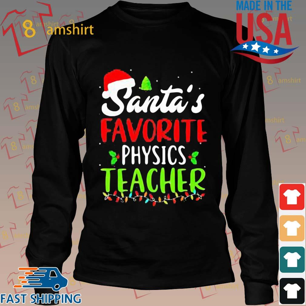 Santa's favorite physics Teacher sweats Long den