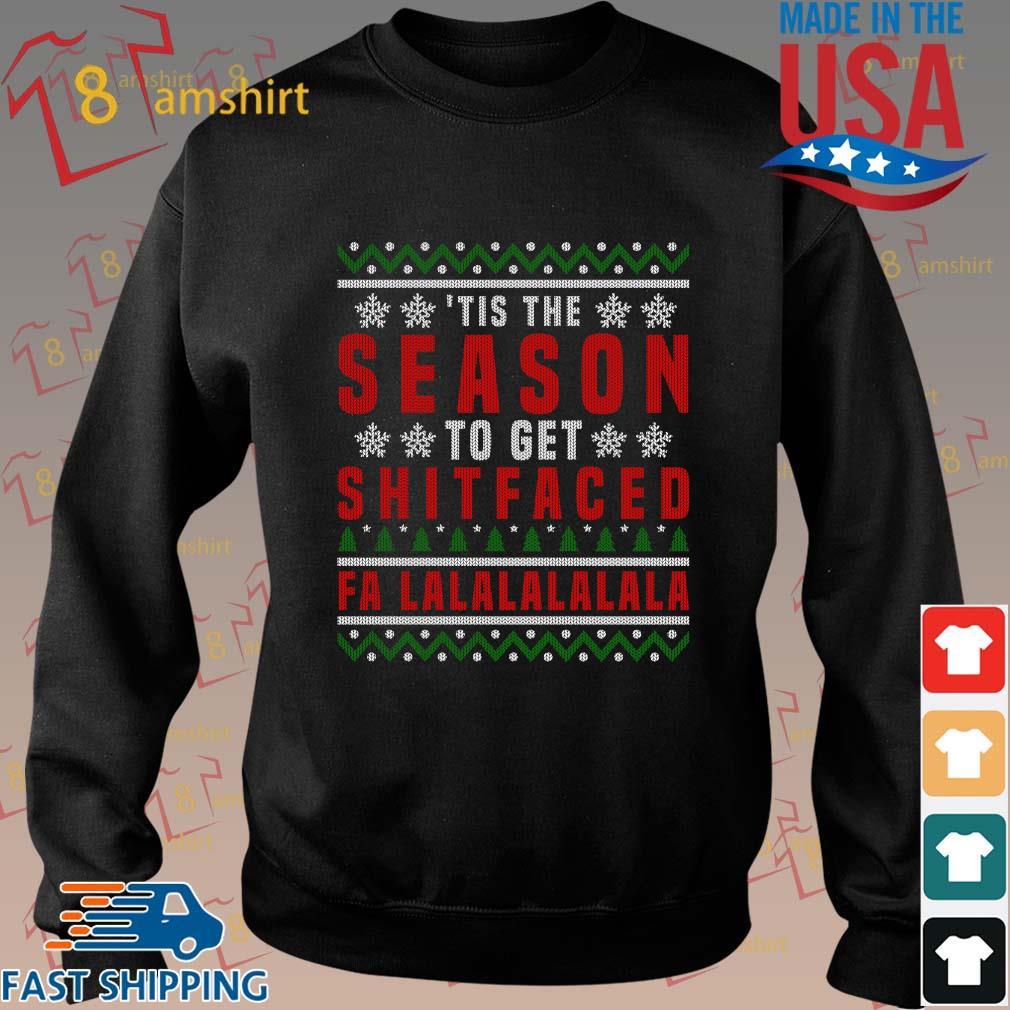 'Tis the to get shitfaced falalalala Ugly Christmas sweater