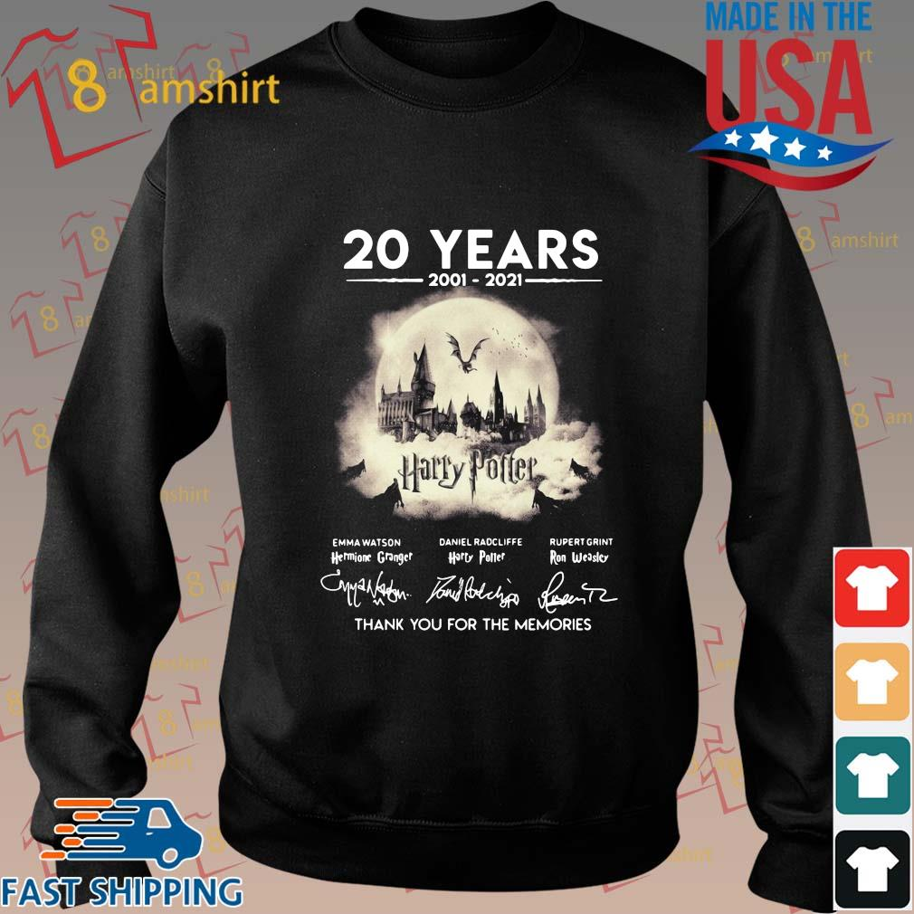 20 years 2002-2021 Harry Potter thank you for the memories signatures sweater