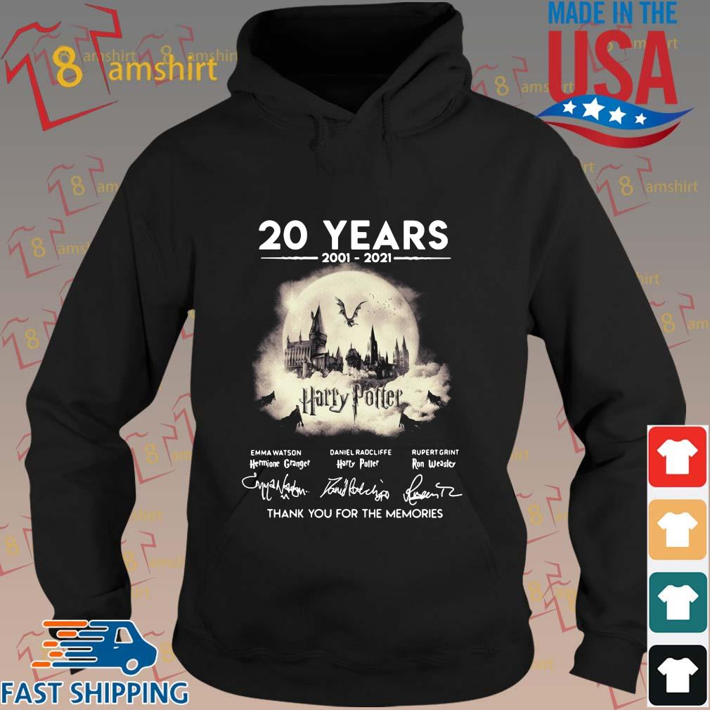 20 years 2002-2021 Harry Potter thank you for the memories signatures sweater hoodie den