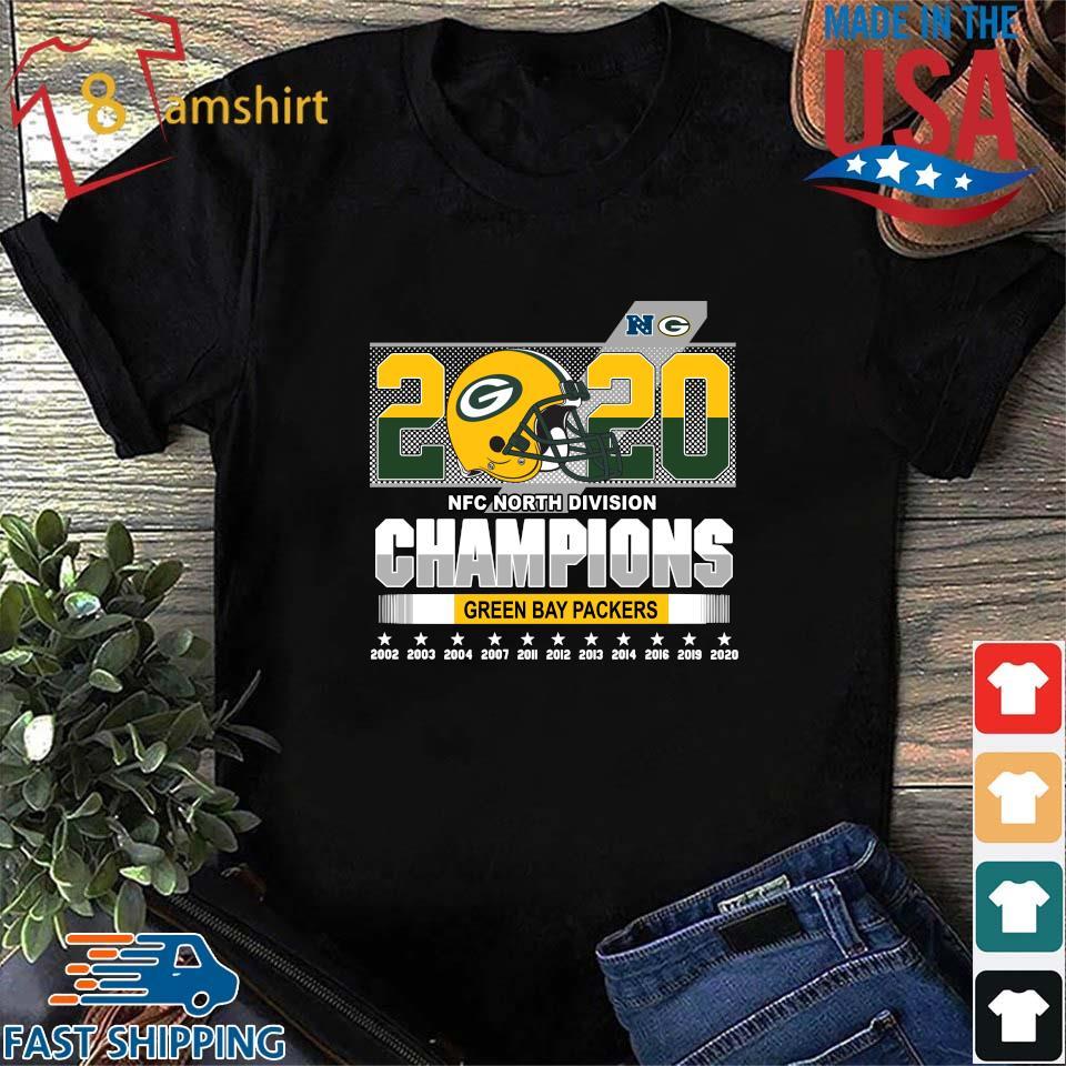 2020 NFC North Division Champions Green Bay Packers 2002-2020 s Shirt den