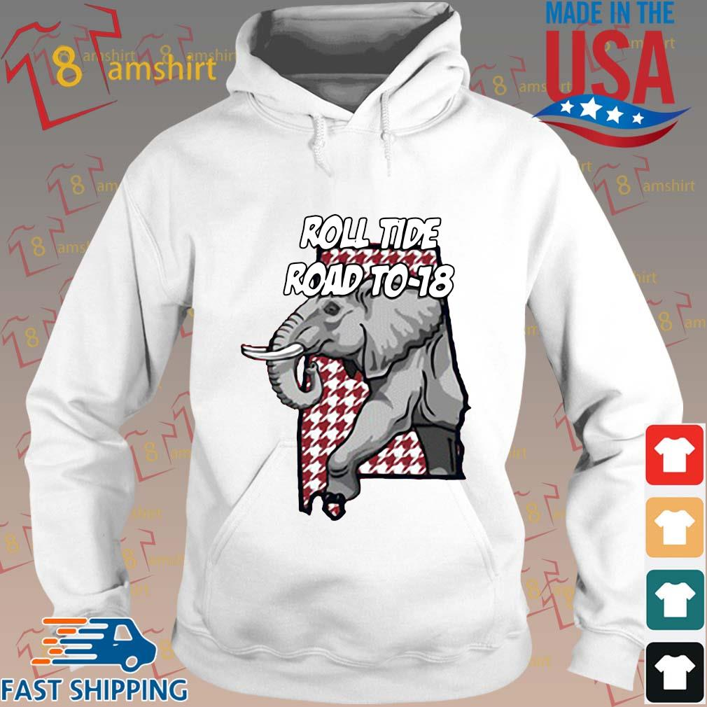 Alabama Crimson Tide roll tide road to-18 s Hoodie trang
