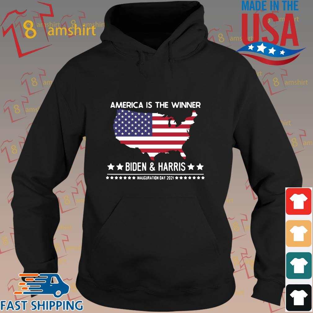 America is the winner Biden and Harris inauguration day 2021 s hoodie den