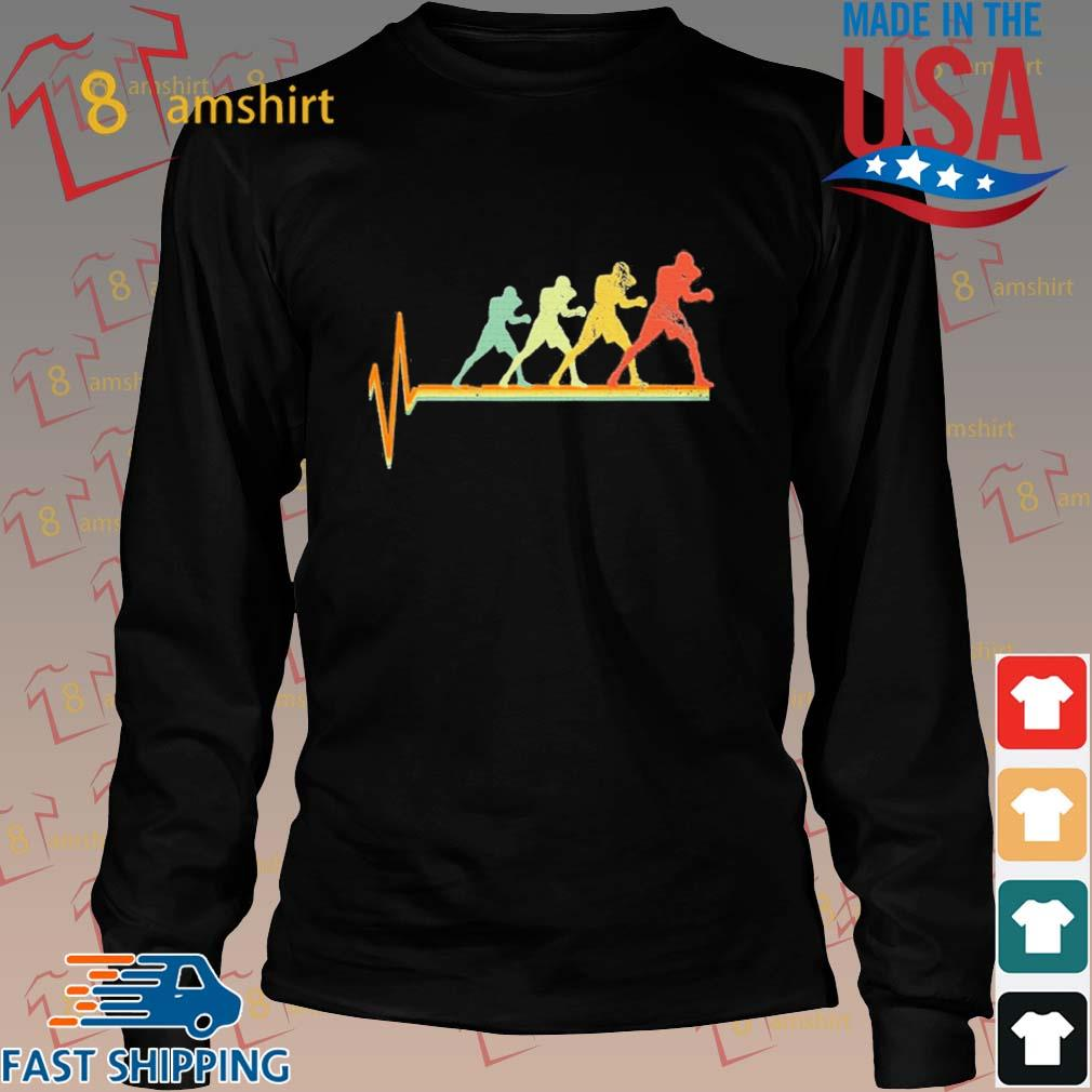 Boxing Heartbeat Vintage Shirt Long den