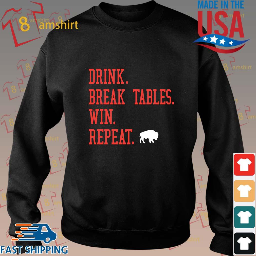 Buffalo Bills Drink Break Tables Win Repeat Shirts