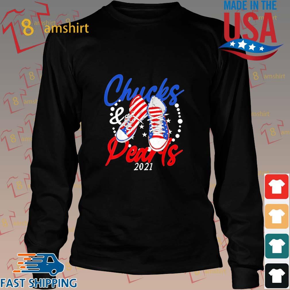 Chucks And Pearls 2021 American Flag Shirt Long den