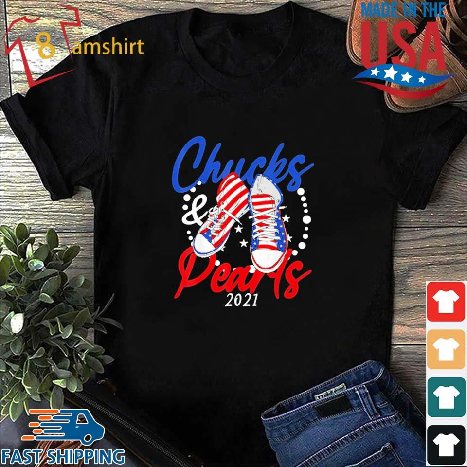 Chucks And Pearls 2021 American Flag Shirt