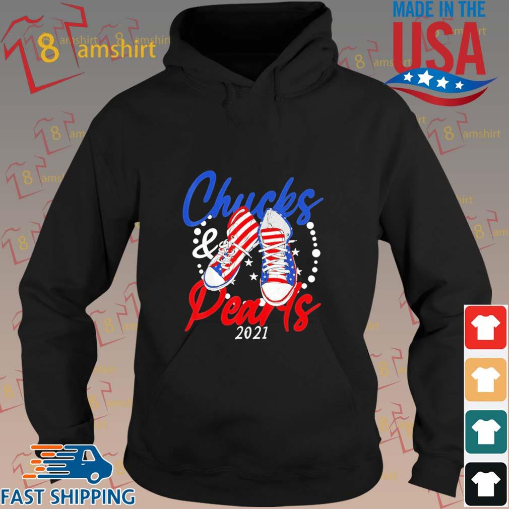 Chucks And Pearls 2021 American Flag Shirt hoodie den