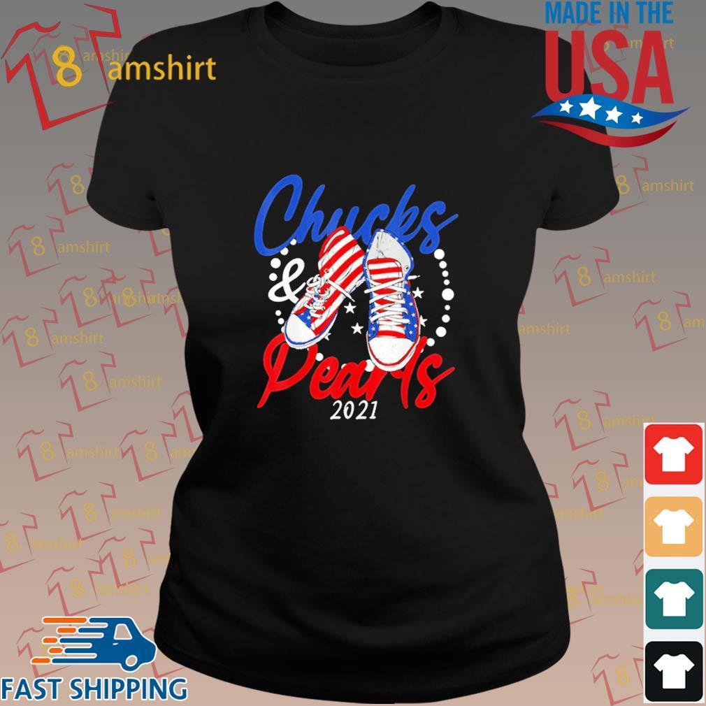 Chucks And Pearls 2021 American Flag Shirt ladies den
