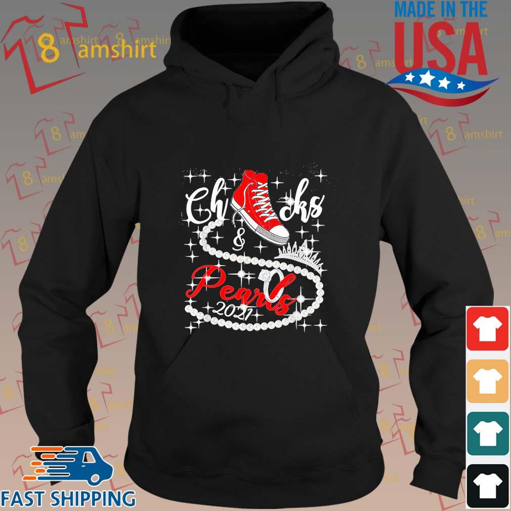 Chucks and Pearls 2021 red converse Kamala Harris s hoodie den