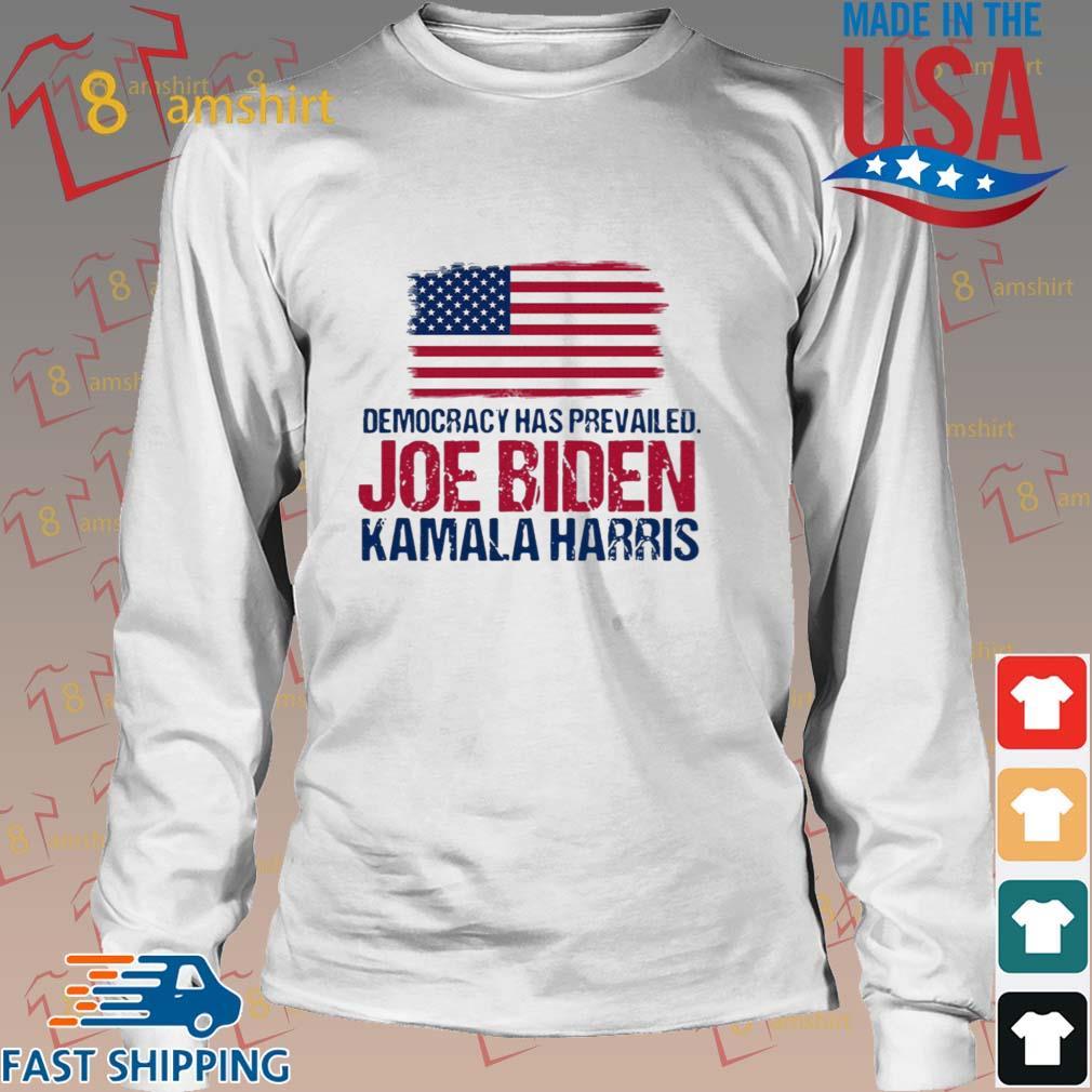 Democracy has prevailed Joe Biden Kamala harris hirt Long trang