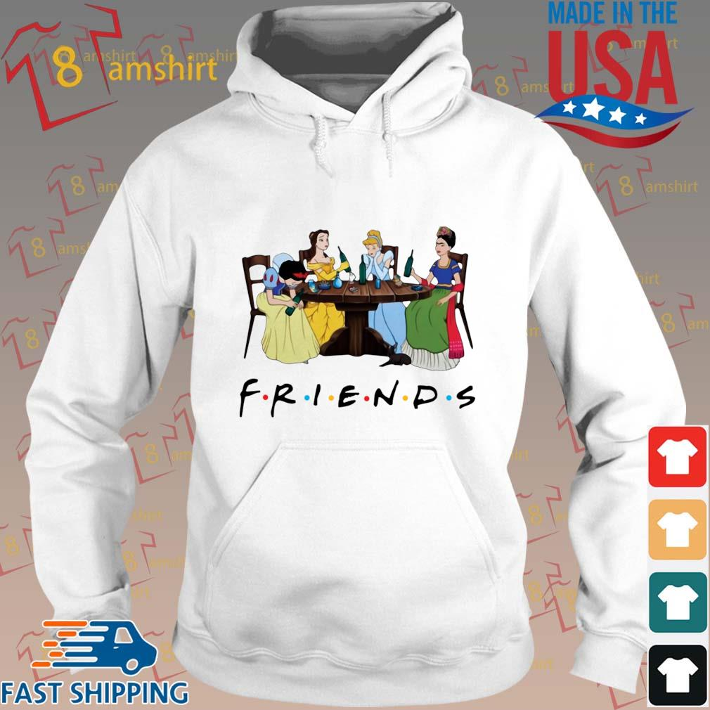 Frida Kahlo and Disney princesses drinking Friends TV show t-s Hoodie trang