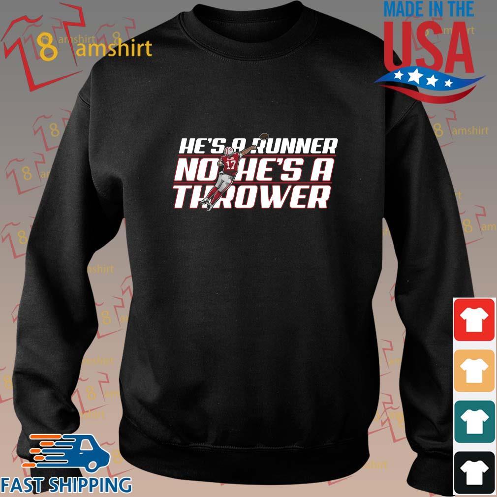 Funny he's a runner no he's a thrower shirt