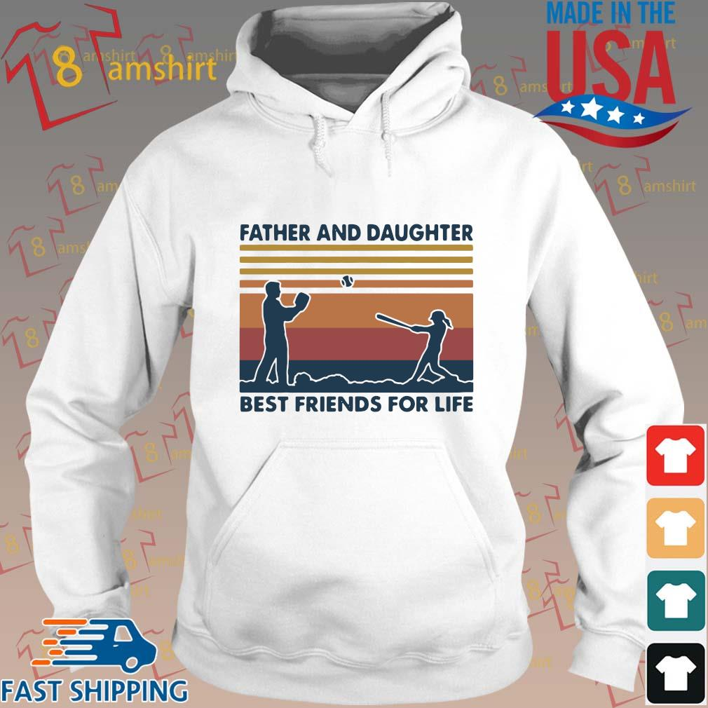 Funny Softball Father And Daughter Best Friends For Life Vintage Shirt Hoodie trang