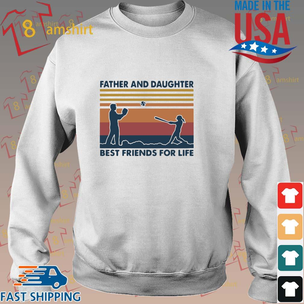 Funny Softball Father And Daughter Best Friends For Life Vintage Shirt Sweater trang