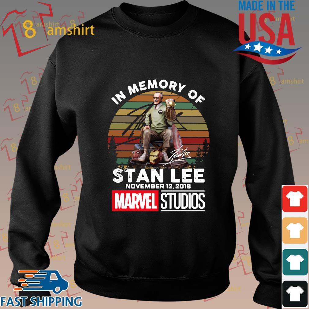 In memory of Stan Lee november 12-2018 Marvel Studios signature vintage sunset shirt