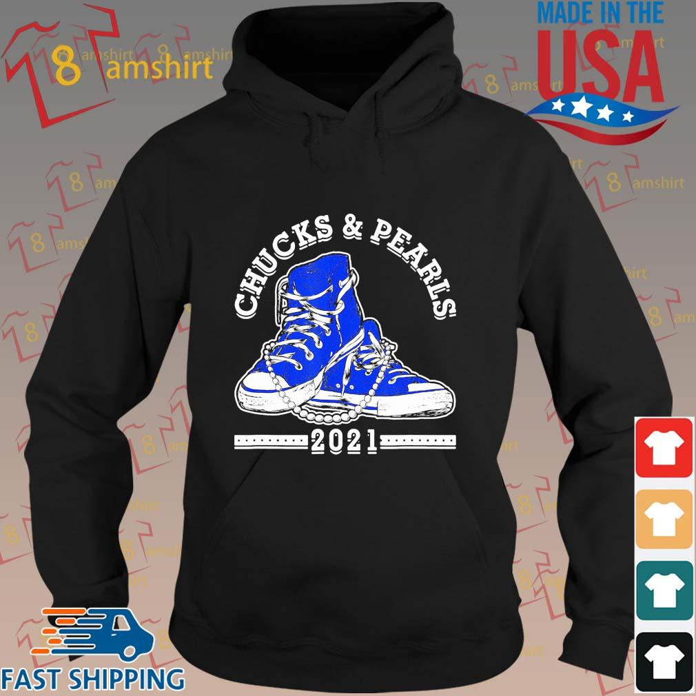 Kamala Harris Chucks and Pearls 2021 blue converse s hoodie den