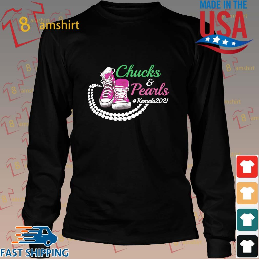 Kamala Harris Chucks And Pearls Aka Sorority 1908 Shirt, Sweater Long den