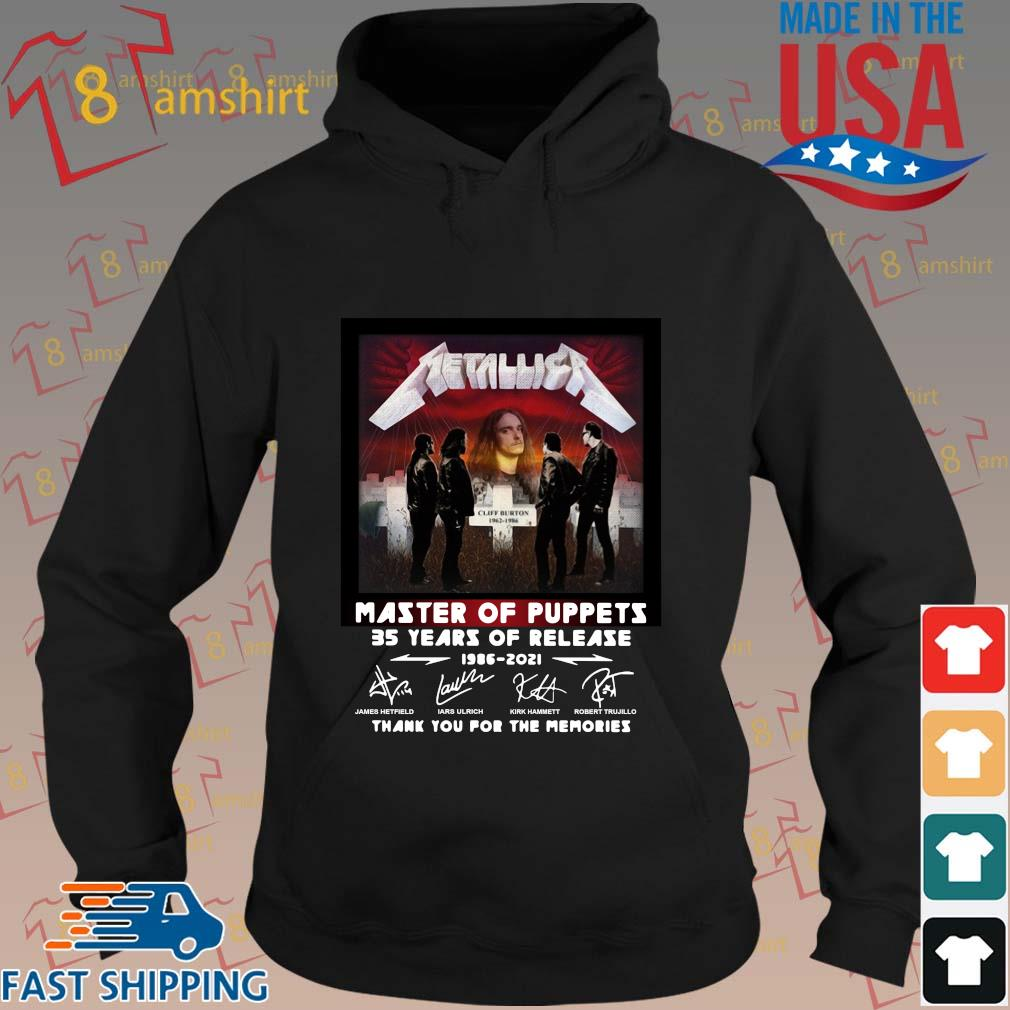Metallica master of puppets 35 years of release 1986-2021 thank you for the memories signatures s hoodie den