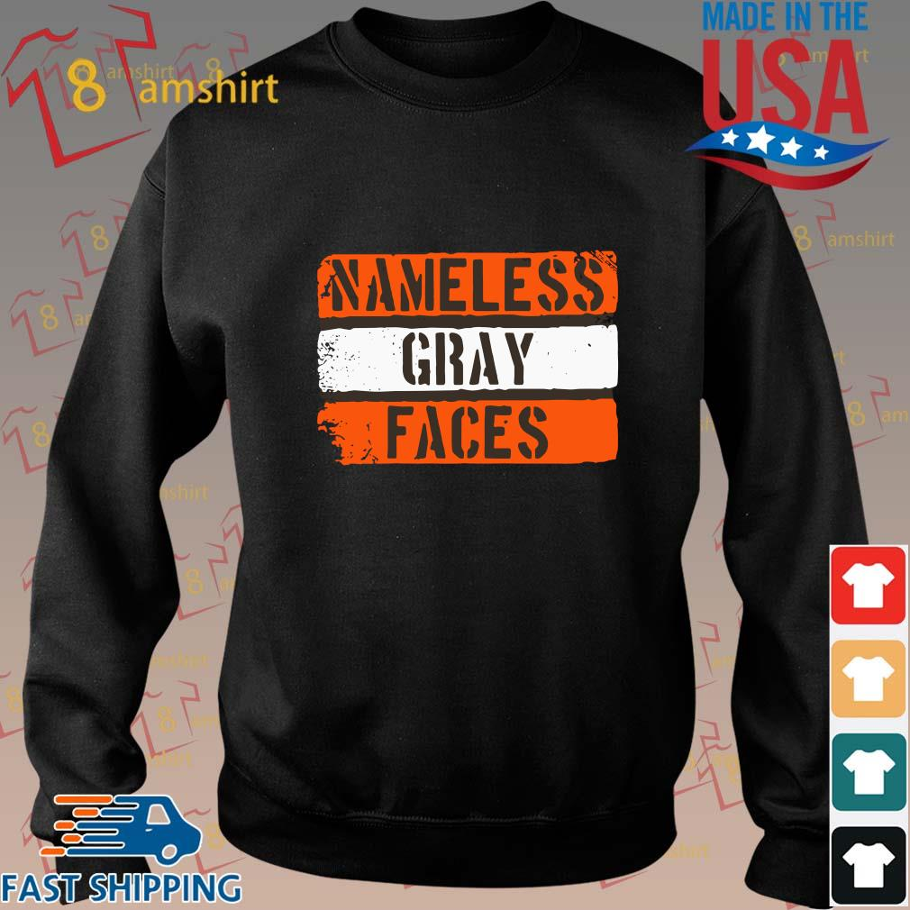 Nameless gray faces shirt