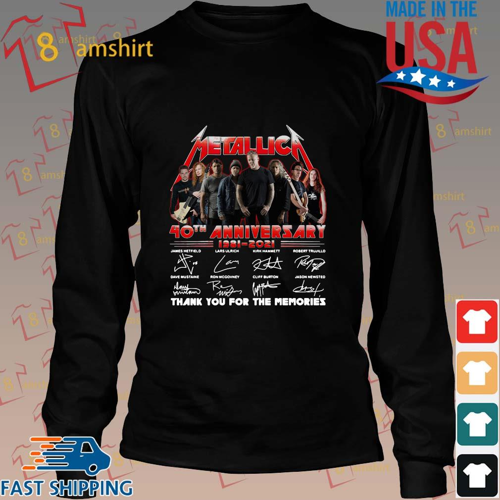 Official Metallica 40th anniversary thank you for the memories signatures sweats Long den