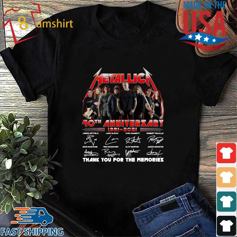 Official Metallica 40th anniversary thank you for the memories signatures sweats Shirt den