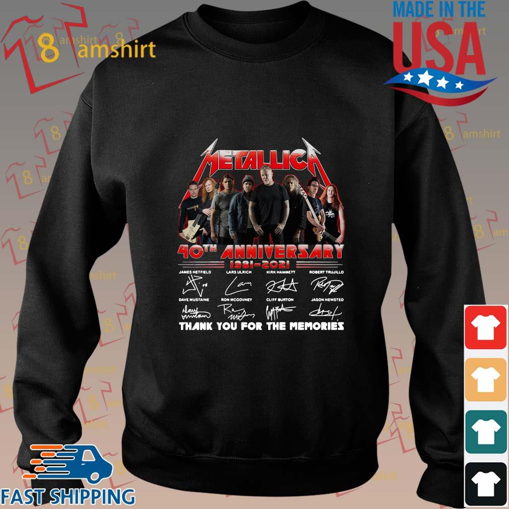 Official Metallica 40th anniversary thank you for the memories signatures sweatshirt