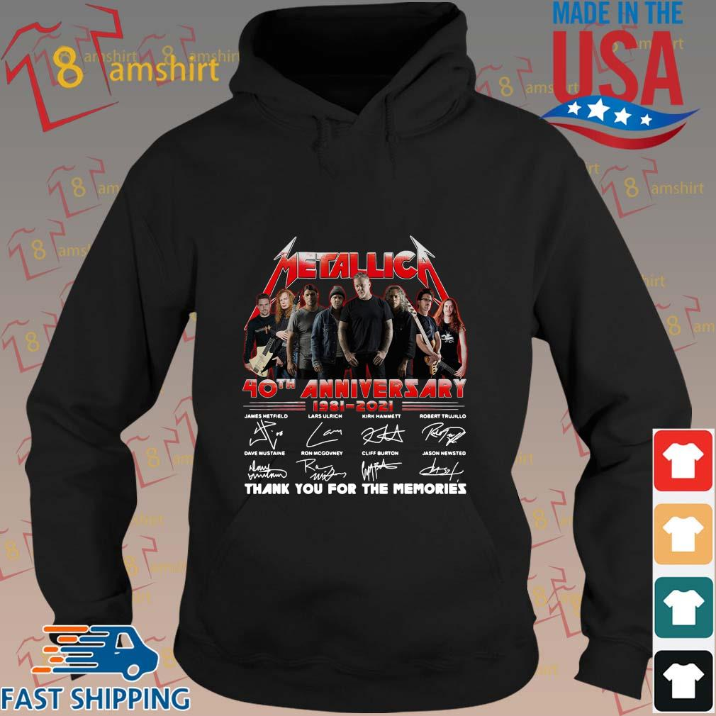 Official Metallica 40th anniversary thank you for the memories signatures sweats hoodie den