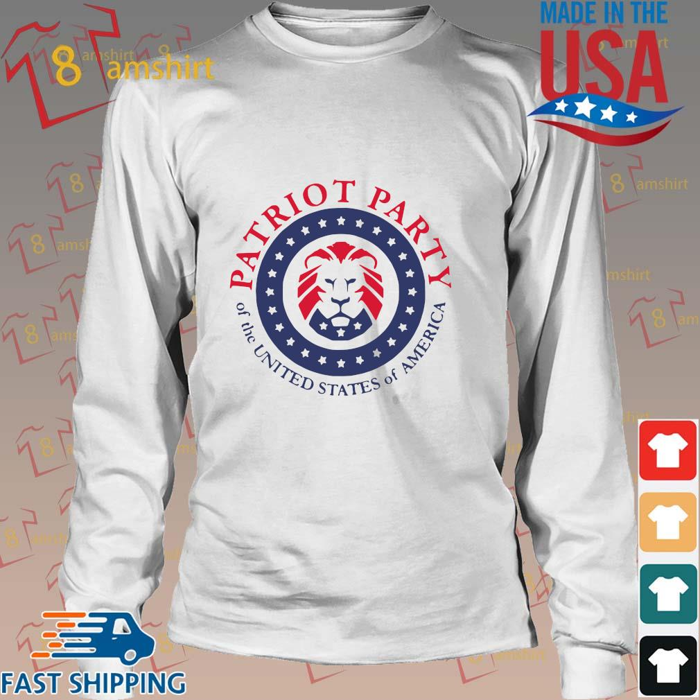 Official patriot party of the united states of America shirt, hoodie Long trang