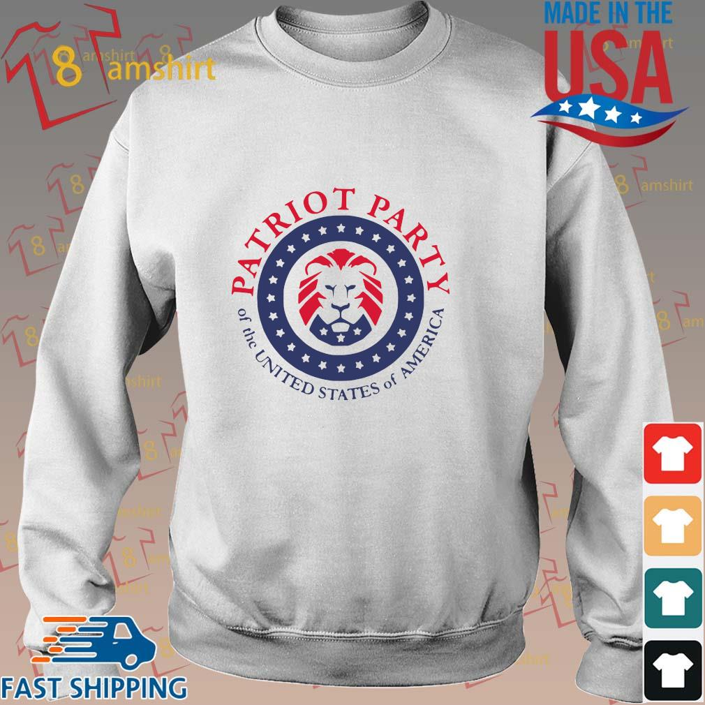 Official patriot party of the united states of America shirt, hoodie Sweater trang