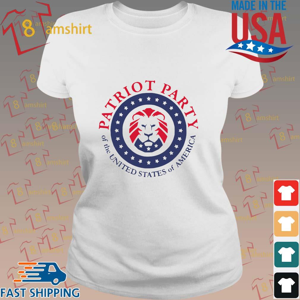 Official patriot party of the united states of America shirt, hoodie ladies trang