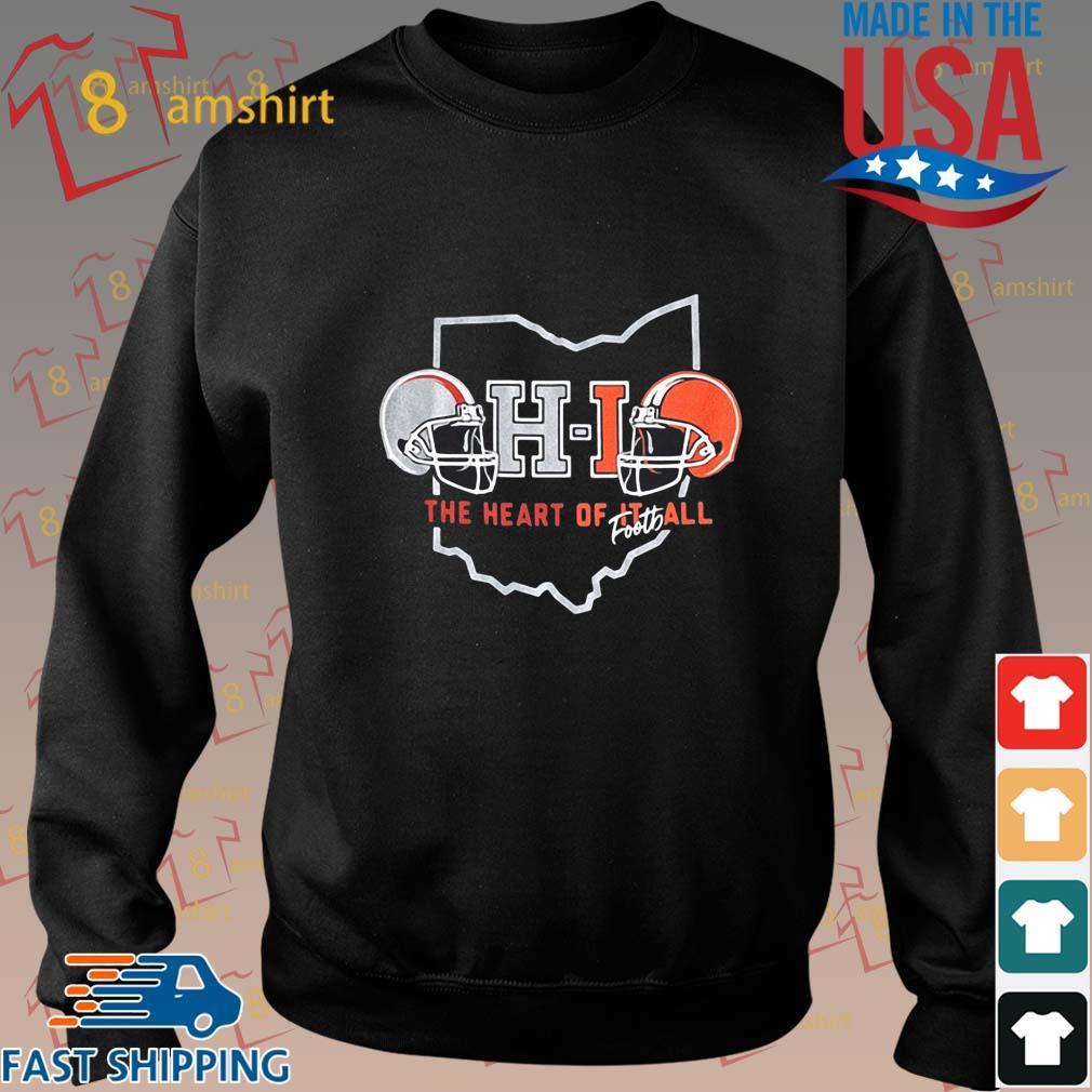 Ohio The Heart Of Football Helmets Shirt