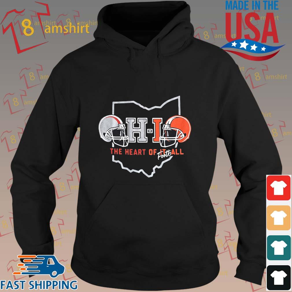 Ohio The Heart Of Football Helmets Shirt hoodie den