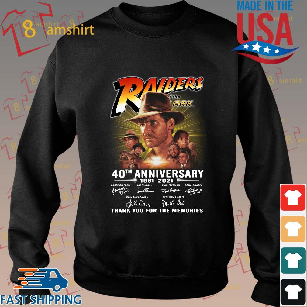 Raiders 40th anniversary 1981-2021 thank you for the memories signatures shirt