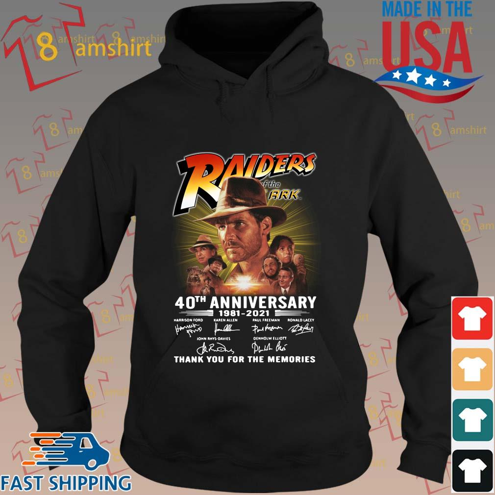 Raiders 40th anniversary 1981-2021 thank you for the memories signatures s hoodie den