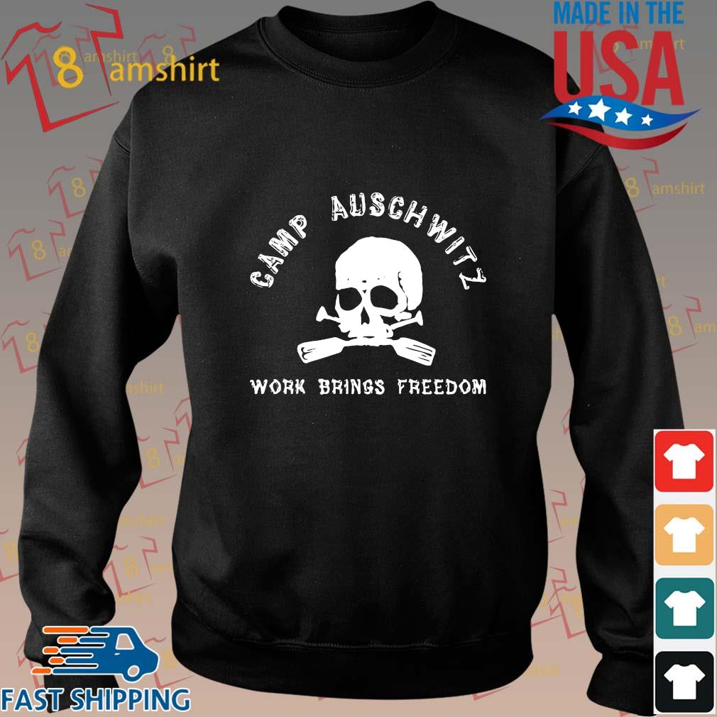 Skull camp auschwitz work brings freedom shirts