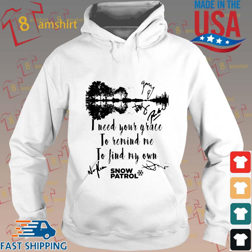Snow Patrol I need your grace to remind Me to find my own signature s Hoodie trang