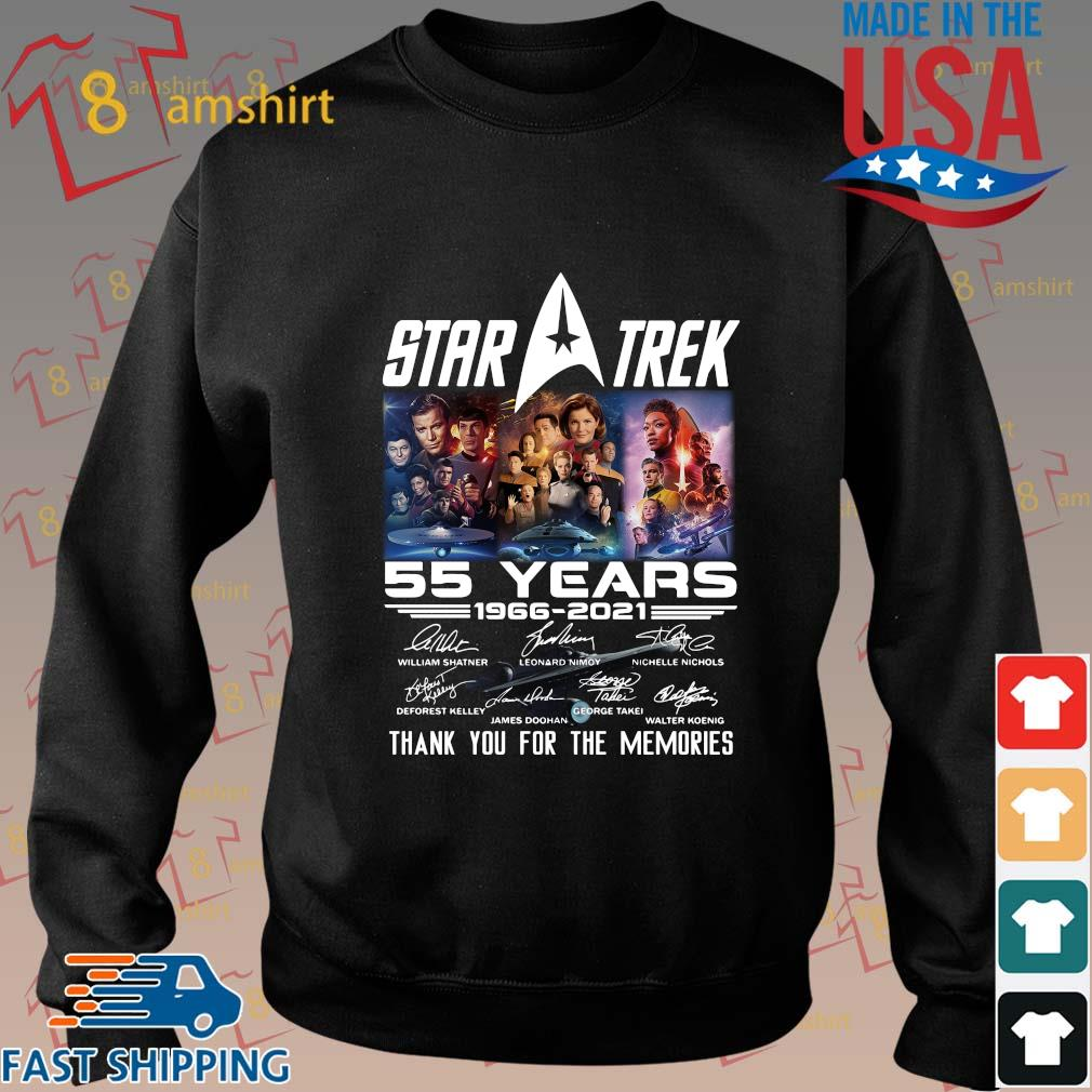 Star Trek 55 years 1966-2021 thank you for the memories signatures t-shirt