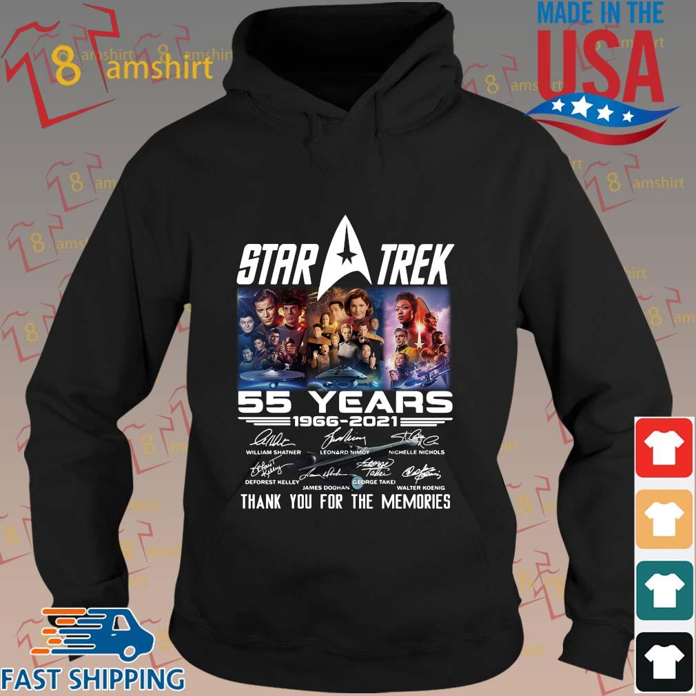 Star Trek 55 years 1966-2021 thank you for the memories signatures t-s hoodie den