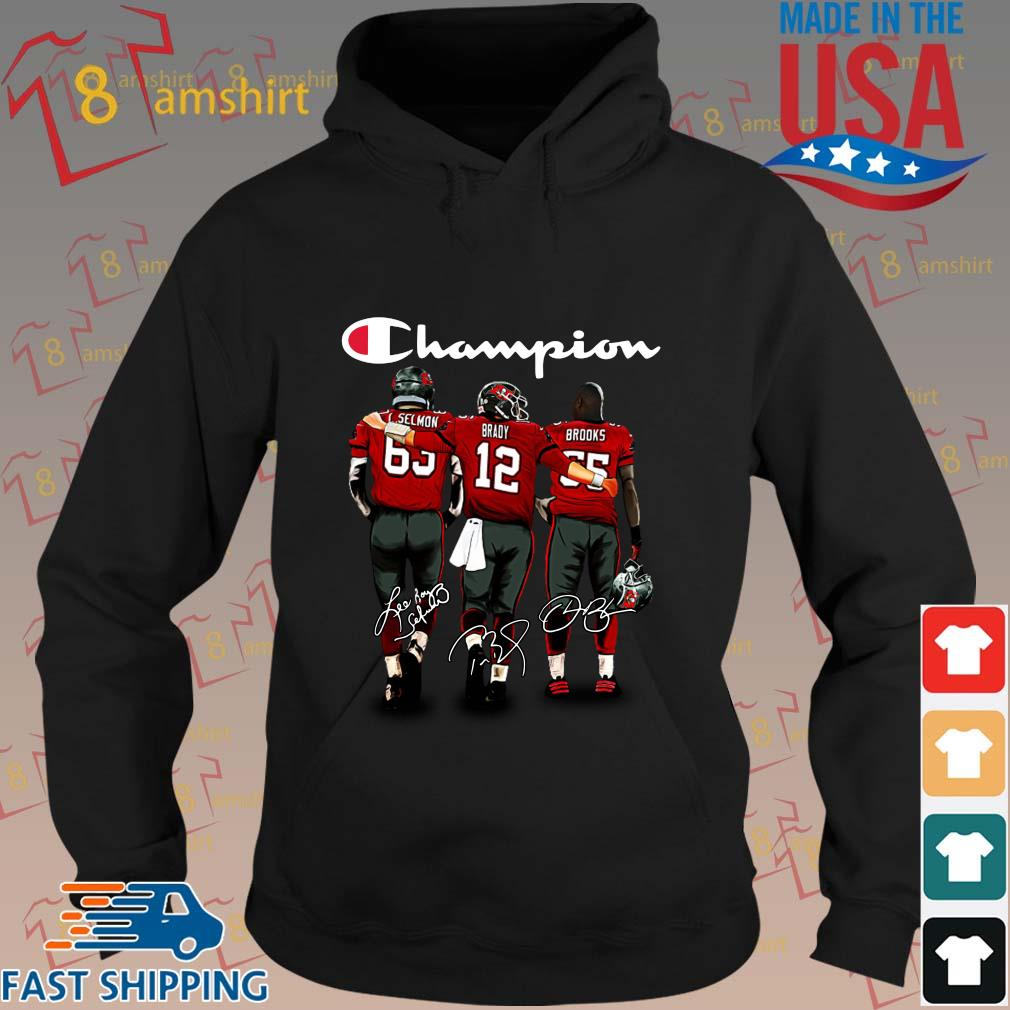 Tampa bay Buccaneers Champion Lee Roy Selmon Brady Brooks signatures s hoodie den