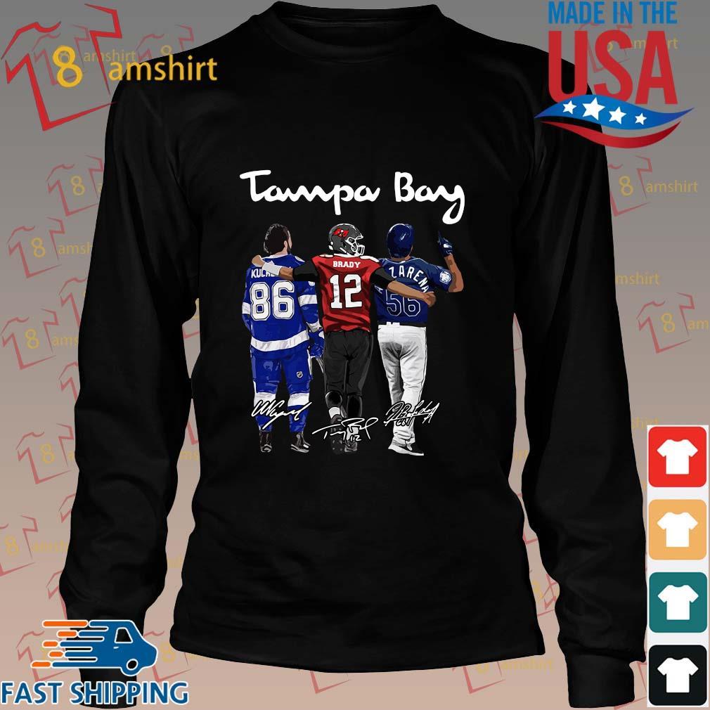 Tampa Bay Nikita Kucherov Tom Brady Mvp signatures shirts Long den