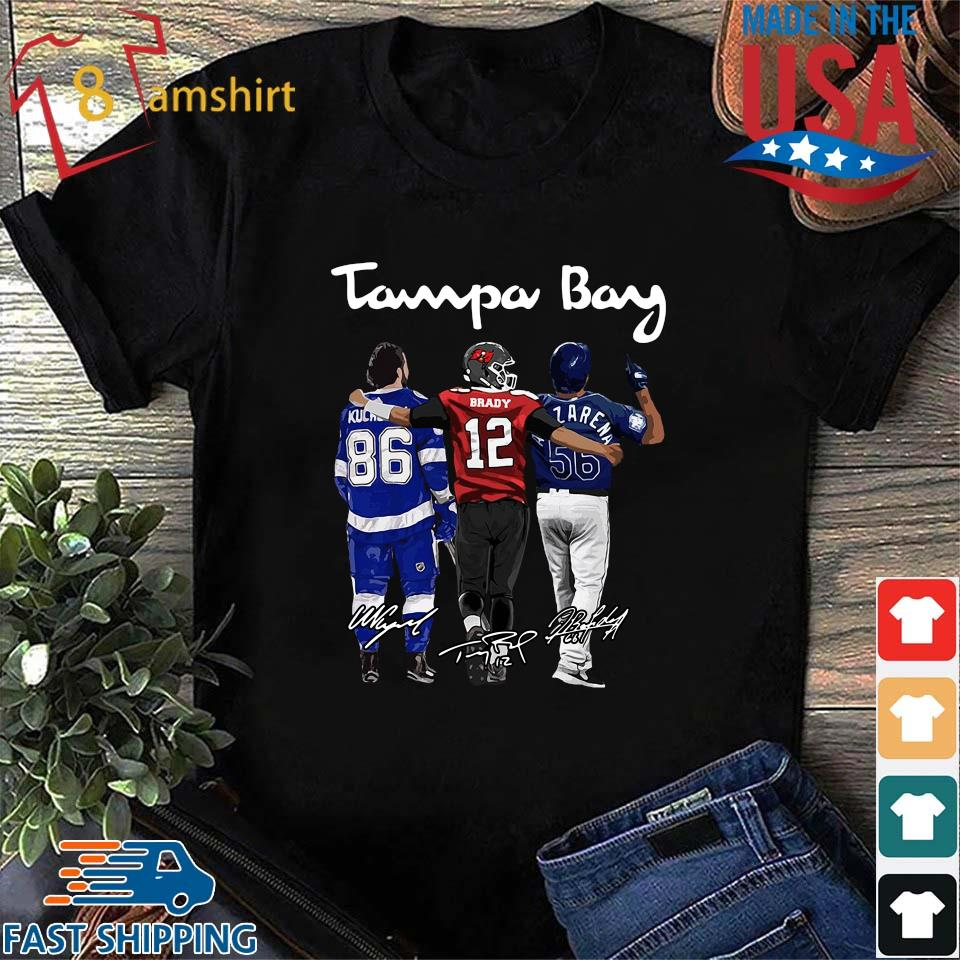 Tampa Bay Nikita Kucherov Tom Brady Mvp signatures shirts